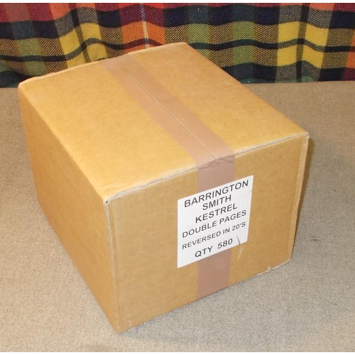 49 - Supplies; a complete wholesale box of Kestrel cover album pages, two pockets per page, punched 4-hol...