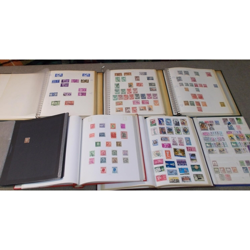 13 - Collections and Mixed Lots; Commonwealth colln. in two volumes, UK in third, Europe colln. on large ...