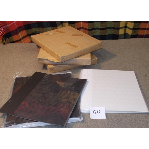 50 - Supplies (New); a box of 87 of the Davo black stockleaves (double-sided, 9 clear strips per side), t...