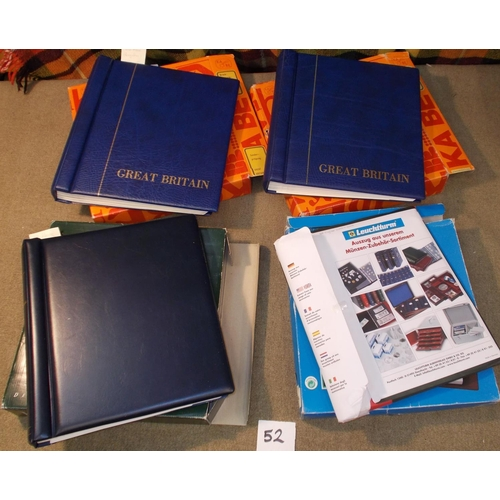 52 - Supplies; two KA-BE hingeless albums for UK 1971-99, a Lighthouse hingeless album UK 200-05, and Lig...