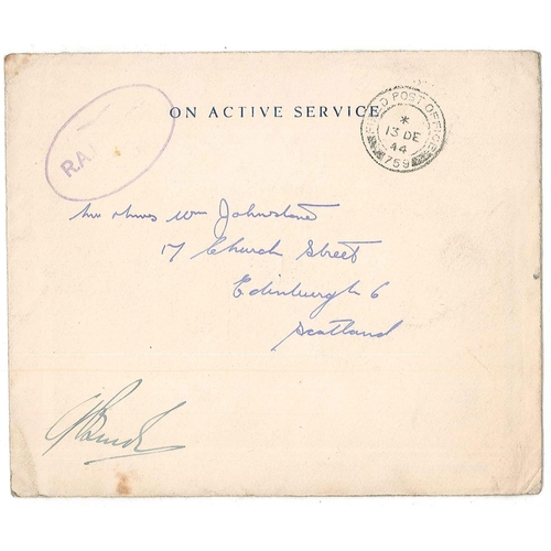 18 - Covers; 1944 RAF 2nd Tactical Air Force Christmas card, used in envelope with FPO 759 c.d.s. (BLA Eu...