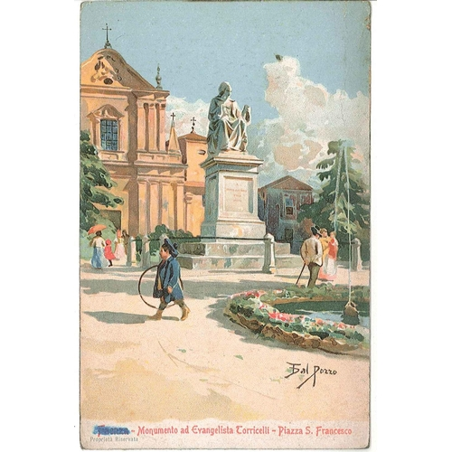 19 - Covers; 1917 coloured postcard of Faenza (Italy) with Army Post Office S.70 c.d.s. and censor mark. ...