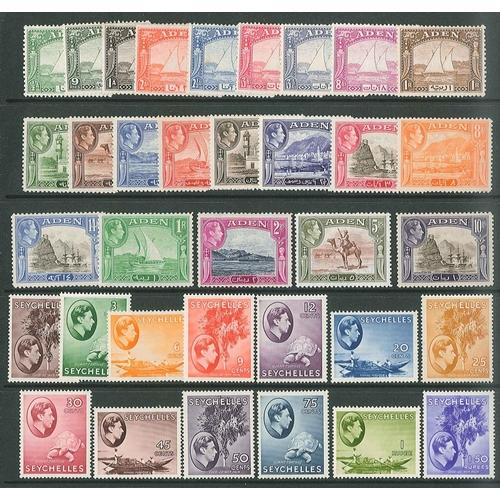 6 - British Commonwealth; Aden 1937 Dhow short set to 1r m.m., 1939-48 set (13) l.m.m./m.m., and Seychel...