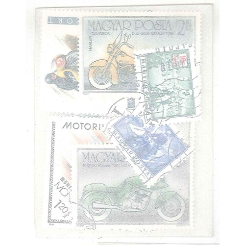 14 - Collections and Mixed Lots; Thematics; Motorcycles; packet of 25 different, mainly c.t.o.