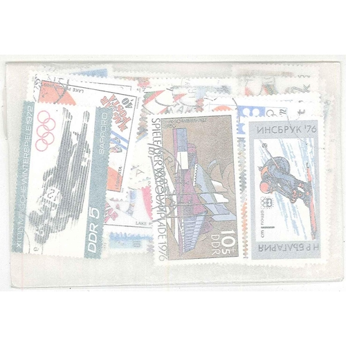 15 - Collections and Mixed Lots; Thematics; Summer and Winter Olympics; packet of 100 different, mainly c...