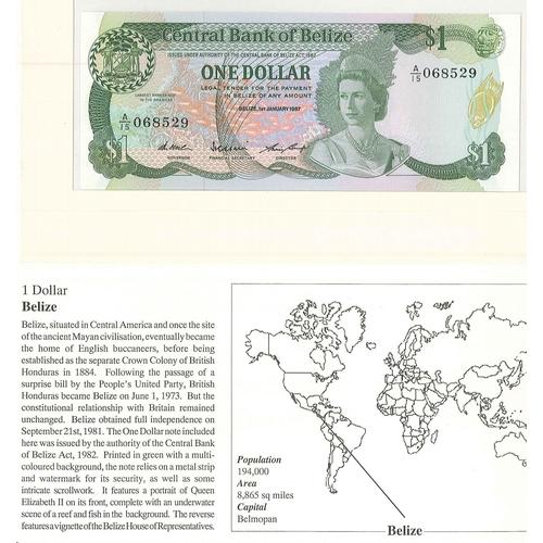 55 - Banknotes; Belize; 1987 $1 note, unc., Krause 46c cat.$25.