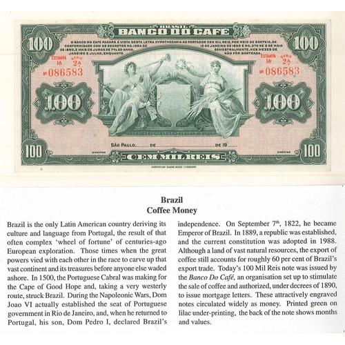 56 - Banknotes; Brasil; Banco do Café 1891 100 mil reis, EF. Krause S548.