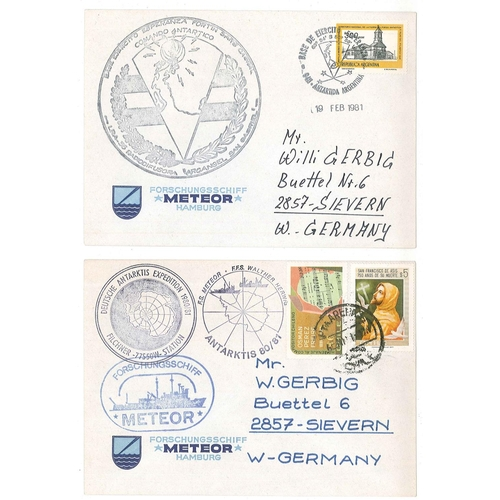 28 - Covers; Antarctic; 1981 four covers from German Antarctic Expedition 1980/81, posted South Georgia, ...