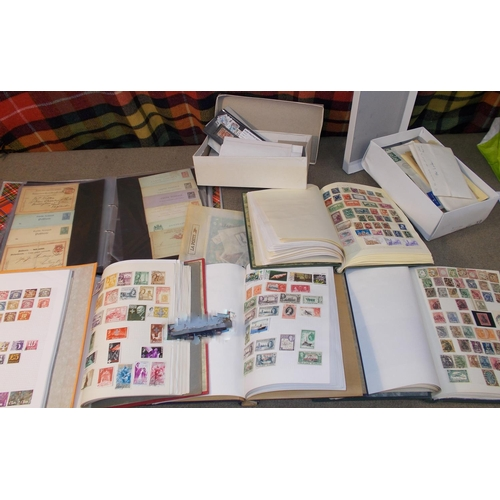 6 - Collections and Mixed Lots; two boxes with two albums of Commonwealth (fair mix best in Africa, 1,00...