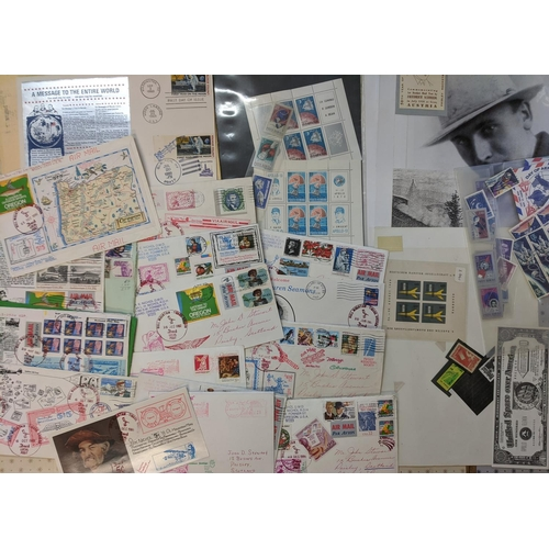 38 - Covers; Rocket Mail; Foreign; mixed bundle of covers, cards, and other items (labels etc.) from mixe...