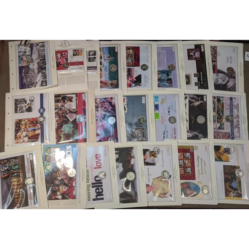 40 - Covers; Philatelic Numismatic Covers; large collection of PNCs all with silver coins, the covers mai...