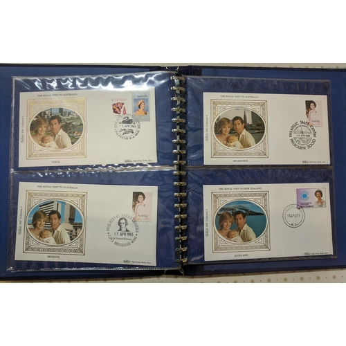 26 - Covers; 1983 Royal Visits to Australia and New Zealand small album with 16 Benham