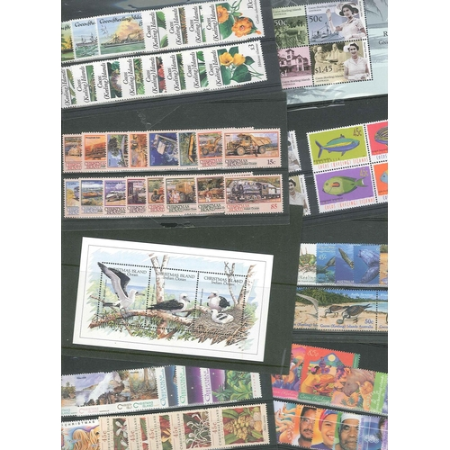 36 - Commonwealth; 1984-2004 u.m. collns. on stockcards and in packets of Christmas Is. (cat.£170+), and ...