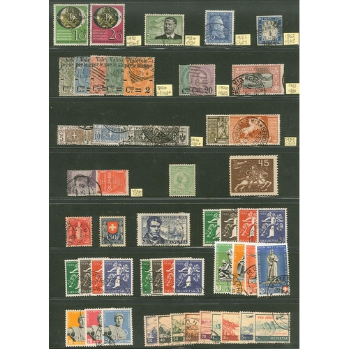 44 - Collections and Mixed Lots; Europe; stockleaf with selected older mostly used seln. of Germany (4, i...