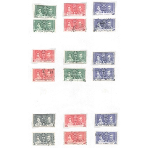 33 - Collections; Commonwealth; bundle of pages with KG6 issues only, mainly 1937 and 1946 omnibus sets m...