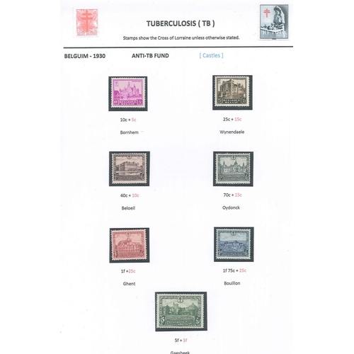 51 - Thematics; Tuberculosis; collection in folder (written-up), plus others on stockleaves and loose. Mu...