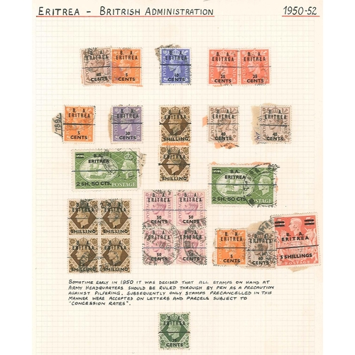 34 - Commonwealth; stockbook of British Levant, Morocco Agencies, and other m. & u. opts. on UK. Includes...