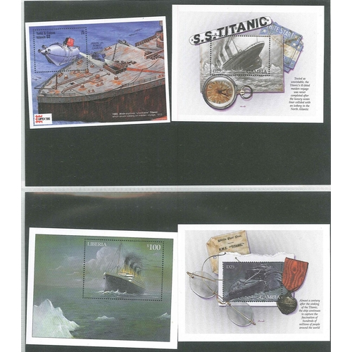 50 - Thematic; Titanic; collection in folder of c.50 stamp items (sets, m.s., bkts., sheetlets, etc.), 18...