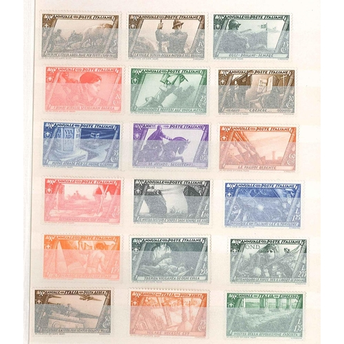 45 - Collections; Europe; medium stockbook of mixed countries inc. Italy 1932 Fascist March set heavy m.m...