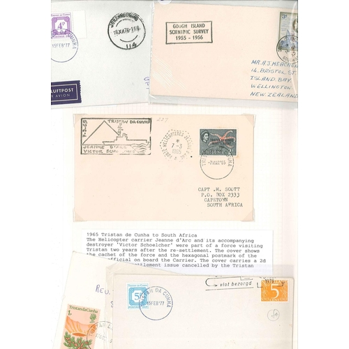58 - Covers; South Atlantic; selection of mainly first day and philatelic covers of St. Helena (30, 5 unu...