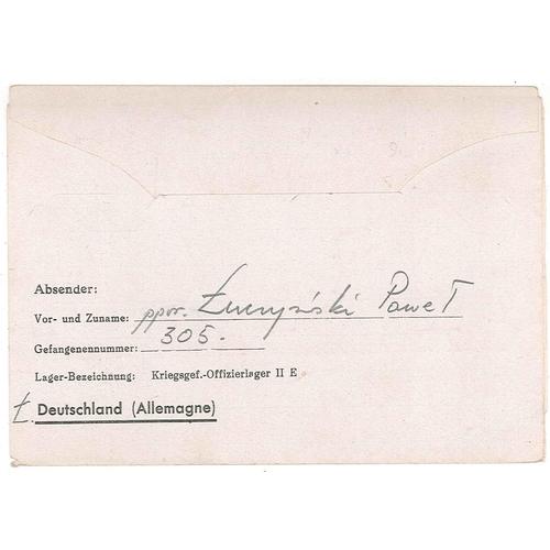 531 - Covers; Prisoner of War Mail; 1942 lettersheet from Polish prisoner at Oflag IIE to Schrimm (= Śrem)...