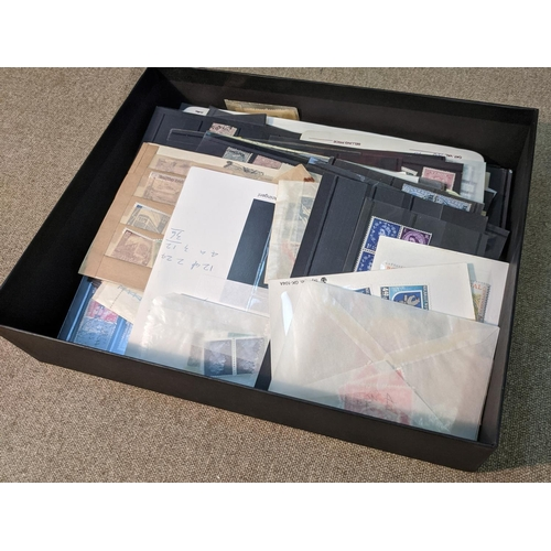 16 - Collections and Mixed Lots; chocolate box with world mix on stockcards and in packets. Generally mid...