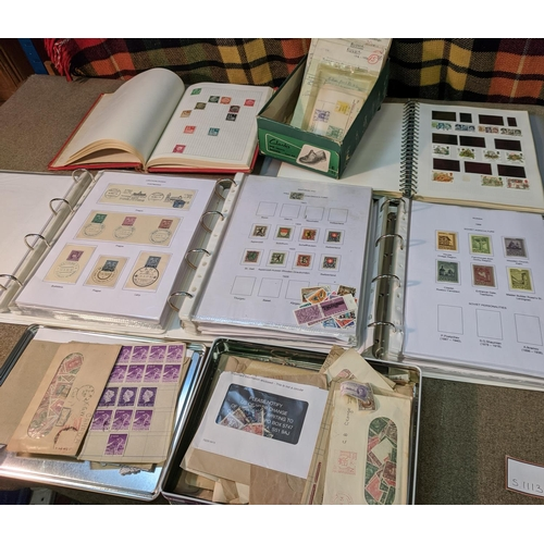 20 - Mixed Lots; cardboard box with two binders of modern covers, cards, etc. (much USSR), another binder...
