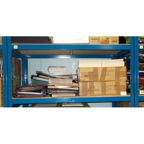 2 - Mixed Lots; large accumulation (almost filling a full shelf in our storage bays) with two folders of...