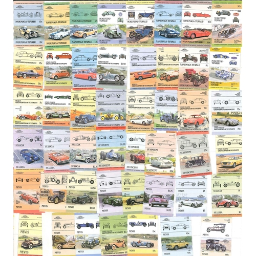 518 - Collections and Mixed Lots; Thematics; Motor Cars; packet of 47 different pairs (= 94 different stam...