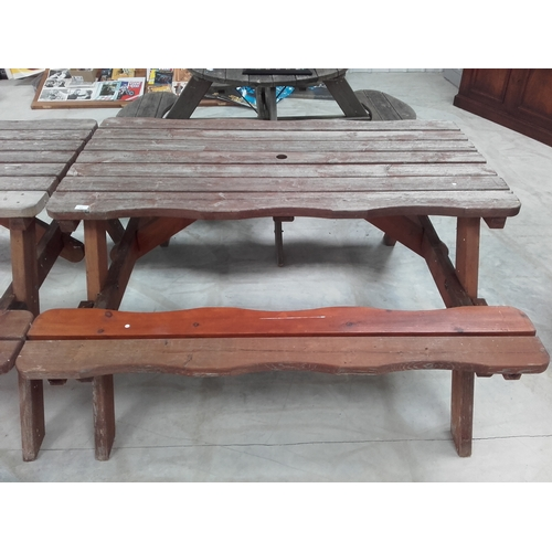 17 - Large picnic table...