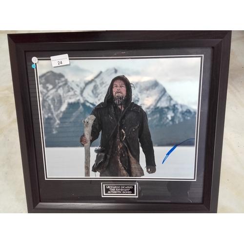 24 - The Revenant movie, Leonardo Dicaprio photo framed with certificate of authenticity...