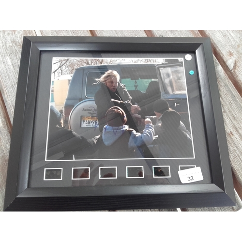 32 - The Wrestler Mickey Rouke autograph photo framed with certificate of authenticity...