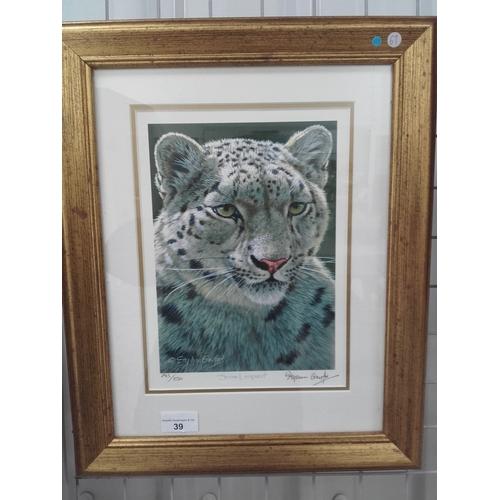 39 - Stephen Gayford limited edition Snow Leopard print...