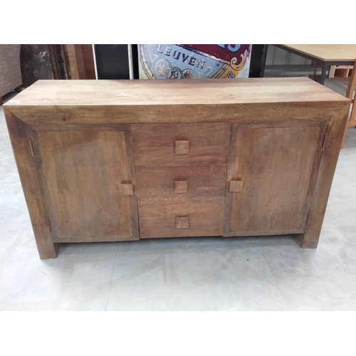 56 - Large mango wood sideboard cabinet 136cm in length...