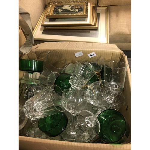 49 - BOX OF GLASSES...
