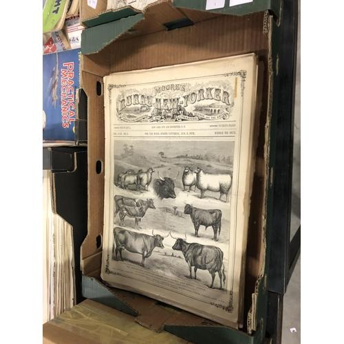 37 - MOORES RURAL NEW YORKER 1870 19 ORIGINAL WEEKLY ISSUES ON AGRICULTURE, ANIMAL HUSBANDRY ETC  ILLUSTR...