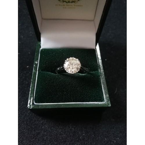 28 - Diamond solitaire ring 2.37ct...