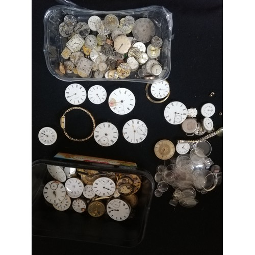 43 - Quantity of pocket watch & wrist watch movements (spares / repairs)...