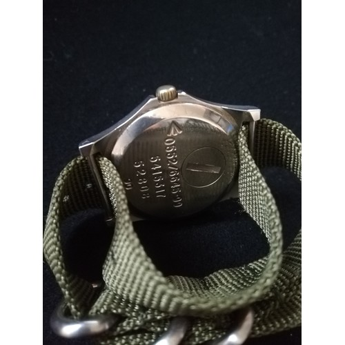 47 - CWC (Cabot Watch Company) military quartz driven watch dated 99 to reverse...