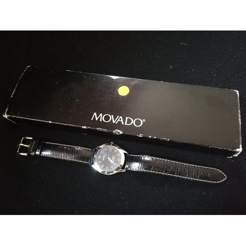 58 - Movado chronometer automatic stainless steel cased wristwatch - boxed (inner & outer)...