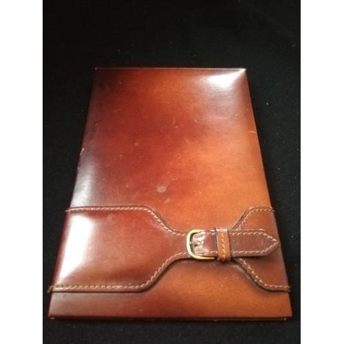 60 - Rolex tan leather desk notebook holder...