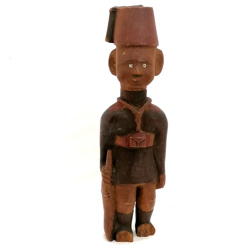 118 - Vintage East African carved statue of a colonial soldier - 12