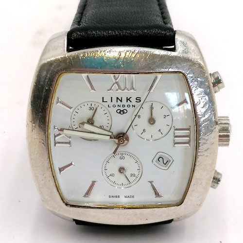 362 - Silver Links of London mens wristwatch, needs a battery...
