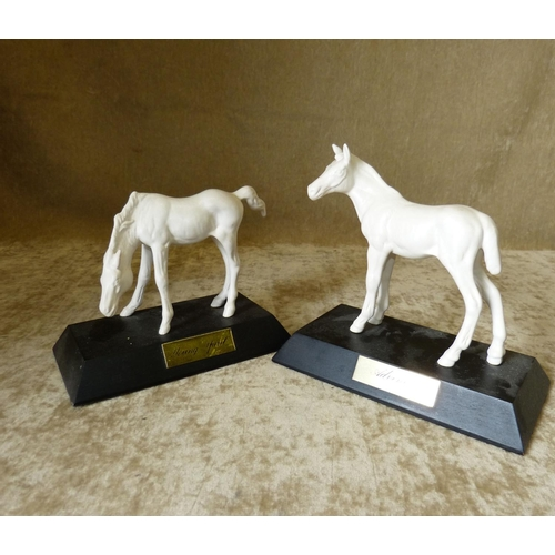1 - 2 Beswick and Doulton White China Figures of Horses