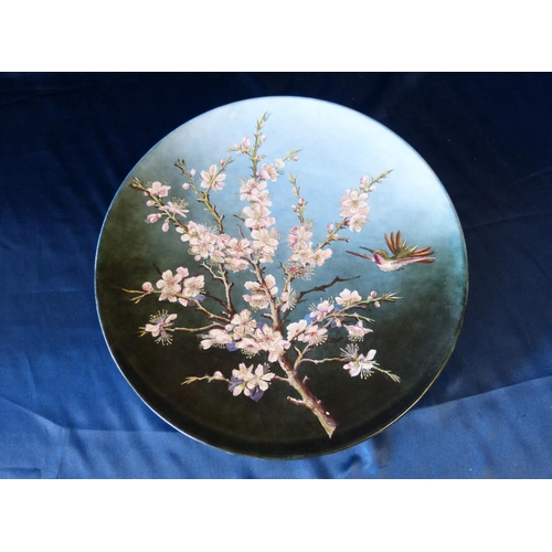 14 - Brown-Westhead, Moore & Co Round Charger having multicoloured humming bird and blossom decoration, 3...