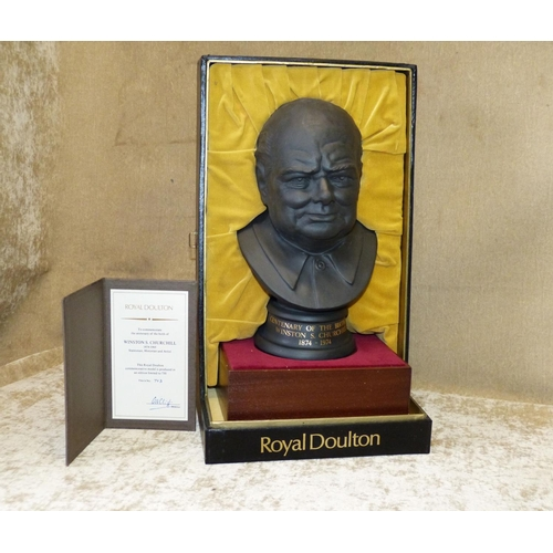 185 - A Royal Doulton Limited Edition Basalt Bust