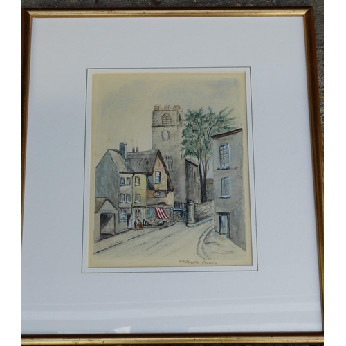 243 - A Watercolour Depicting Street Scene