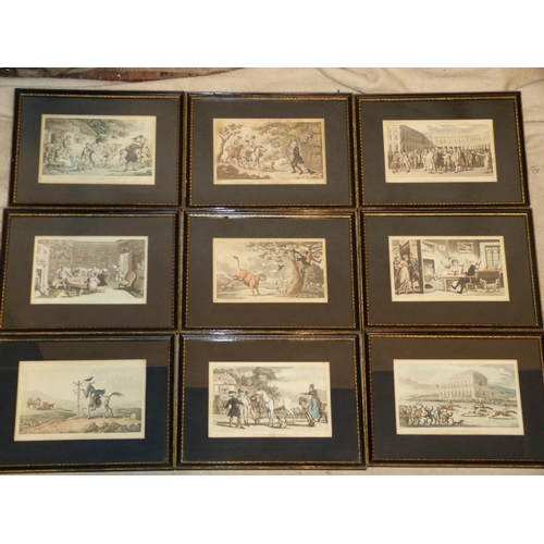 263 - A Set of 9 Rowlandson