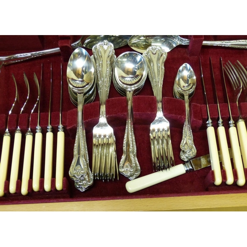 277 - A Silver Plated Flatware Service in fitted walnut case...