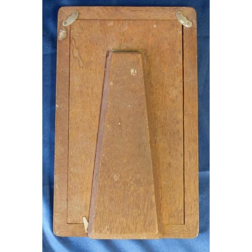 389 - A Birmingham Silver Plain Rectangular Shape Freestanding Photograph Frame, 29.5cm high...